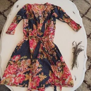 Light Floral Midi Robe